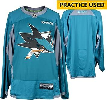San Jose Sharks Practice-Used Teal Reebok Jersey - Size 58 ... c7e6144b91c