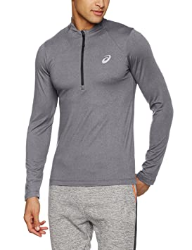 ASICS LS 1/2 Zip Jersey Camiseta de Manga Larga, Hombre: Amazon.es: Deportes y aire libre