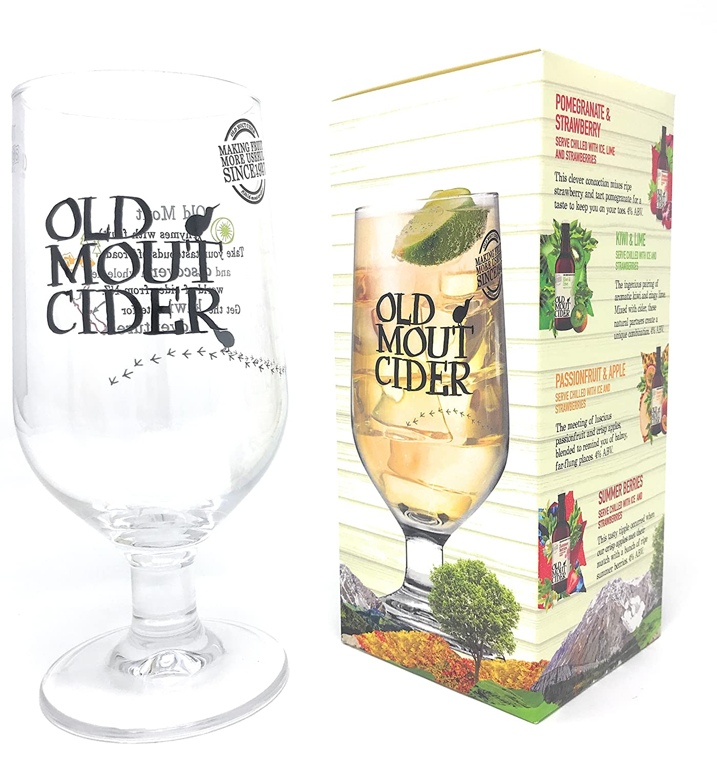 Old Mout Cider Pint Glass in Official Branded Gift Box (1 Glass) Arc International Plc