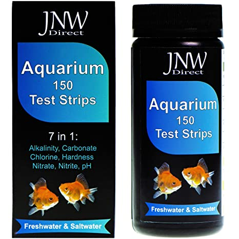 JNW Direct 7 in 1 Aquarium Test Strips, 150 Strip MEGA Pack, Best Kit for  Accurate Water Quality Testing for Saltwater & Freshwater Aquariums and  Fish