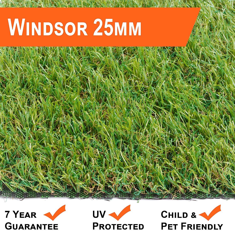 Natural Look 35mm Pet Friendly Tri-Coloured Artifical Grass 10 yr guarantee!