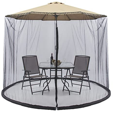Exceptionnel Best Choice Products 9ft Patio Umbrella Bug Screen W/Zipper Door. Polyester  Netting