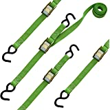 SmartStraps 10-Foot Cambuckle (4pk) 900 lbs Break Strength, 300 lbs Safe Work Load– Tie Down Fragile and Lighter Loads for Transport – Offers More Security Than Rope