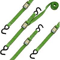 SmartStraps - Cuerda elástica estándar (20 unidades) - Carga segura de luz como refrigeradores, equipaje y latas de gas - Alta calidad, versátil, cuerdas elásticas económicas en una variedad de tamaños, Green 10-Foot Length Straps, 4 paquetes