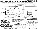 Vestil D-200-HD-ORG-C Self-Dump Hopper HD, 2