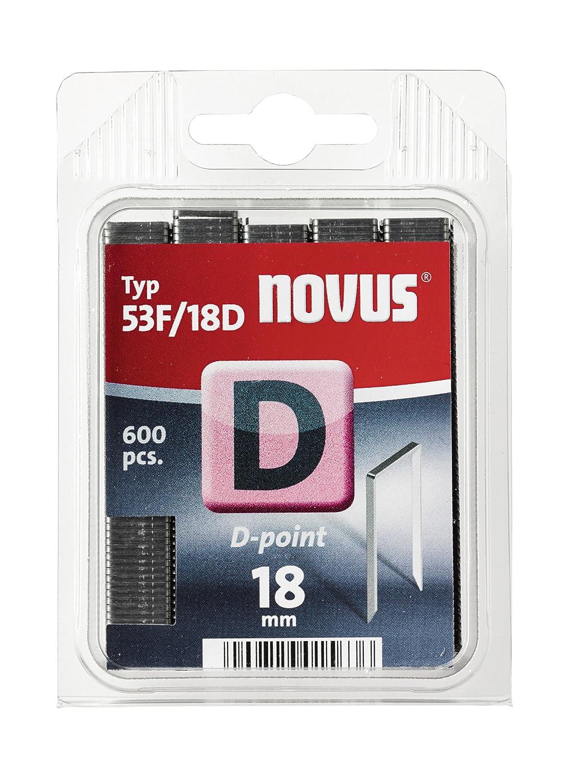 Novus 042-0650 Grapa D 53 F 18 mm 600 St (punta de sierra)