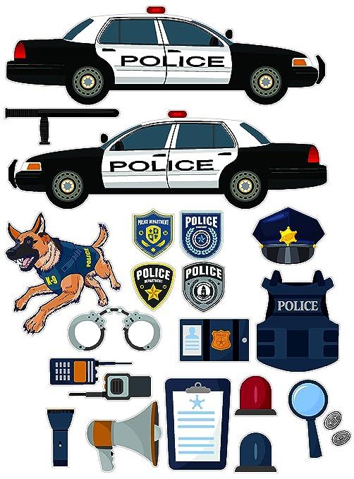 Amazon com: Epic Designs Police car Equipment Stickers