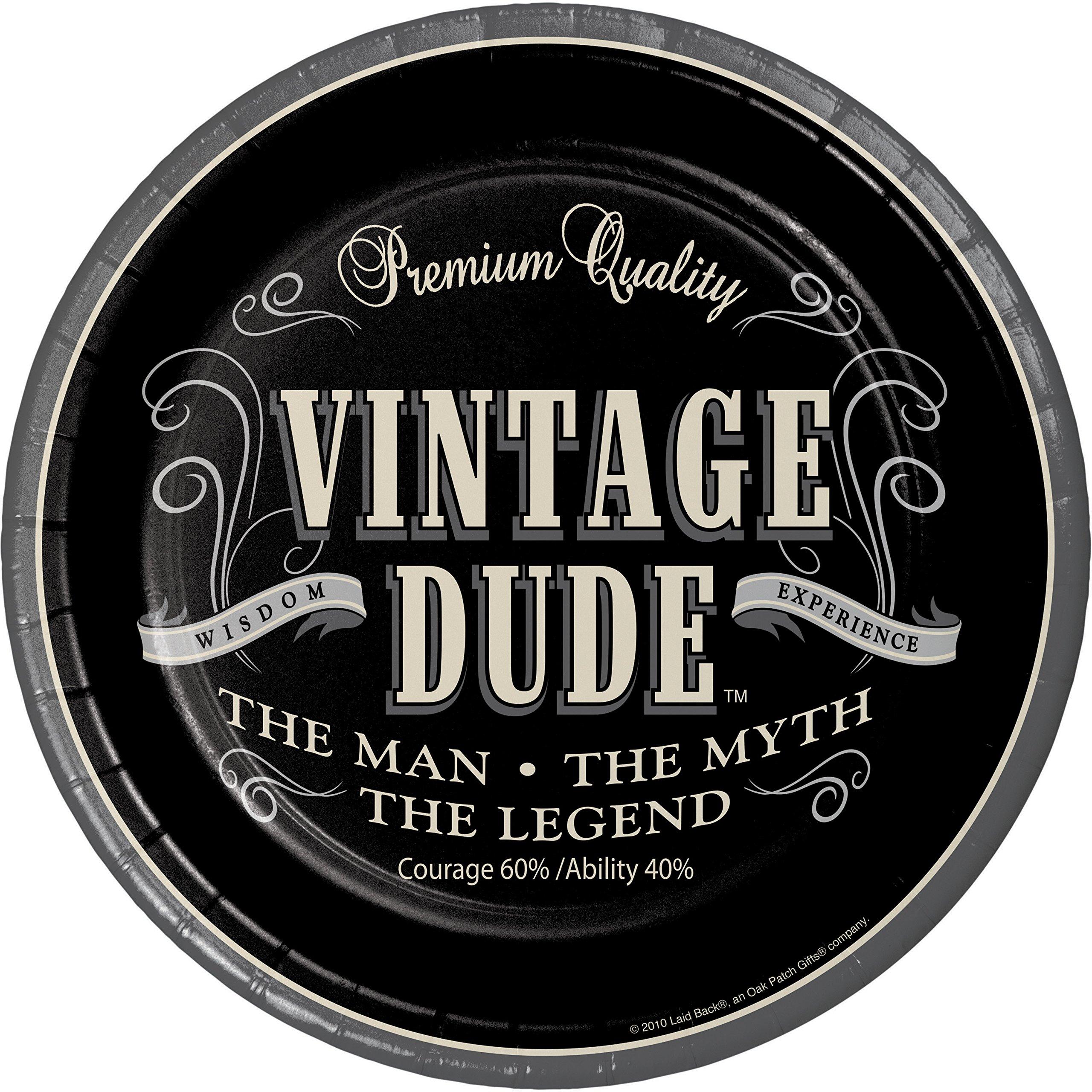 Amazon Com Vintage Dude Dessert Plates 24 Ct Health