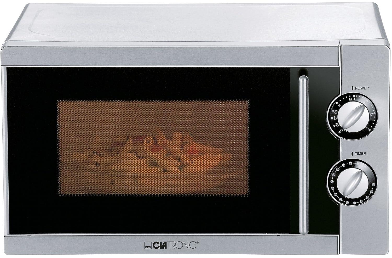 Clatronic MWG 773 E - Microondas con grill (17 litros), acero ...