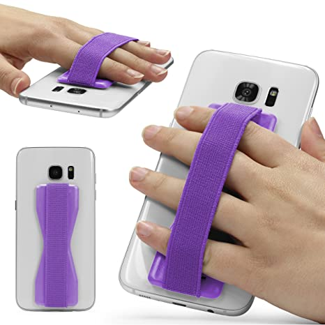 Urcover® Soporte de Mano Tablet Móvil, Selfie Strap Finger Smartphone, agarres elásticos,