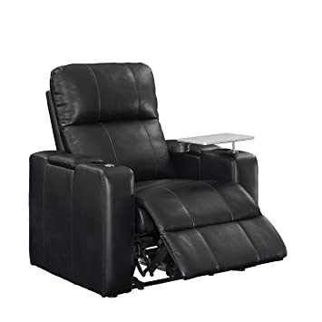 Pulaski Power Home Theatre Recliner USB Port Tray Blanche Black  sc 1 st  Amazon.com : recliner with cup holder and speakers - islam-shia.org