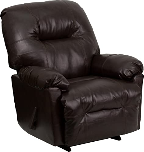 Flash Furniture Contemporary Bentley Brown LeatherSoft Chaise Rocker Recliner