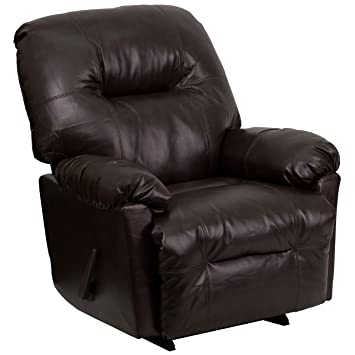 Amazoncom Flash Furniture Contemporary Bentley Brown Leather