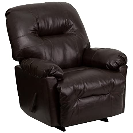 Flash Furniture Contemporary Bentley Brown Leather Chaise Rocker Recliner  sc 1 st  Amazon.com : chaise rocker recliner - Sectionals, Sofas & Couches