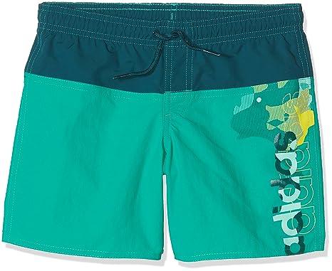 b7085ef076 Adidas Swimming Shorts Kids Boys Water Linear Green Swimwear Beach BJ9641  (176-16-