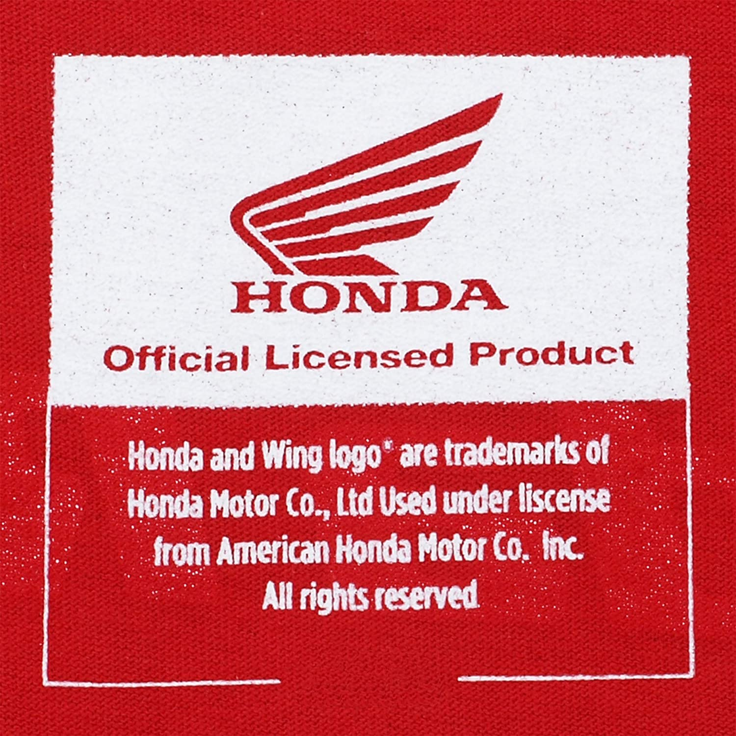 JH Design Honda Logo T-Shirt with American Flag Sticker Mens Crewneck T-Shirts HON803RAC4