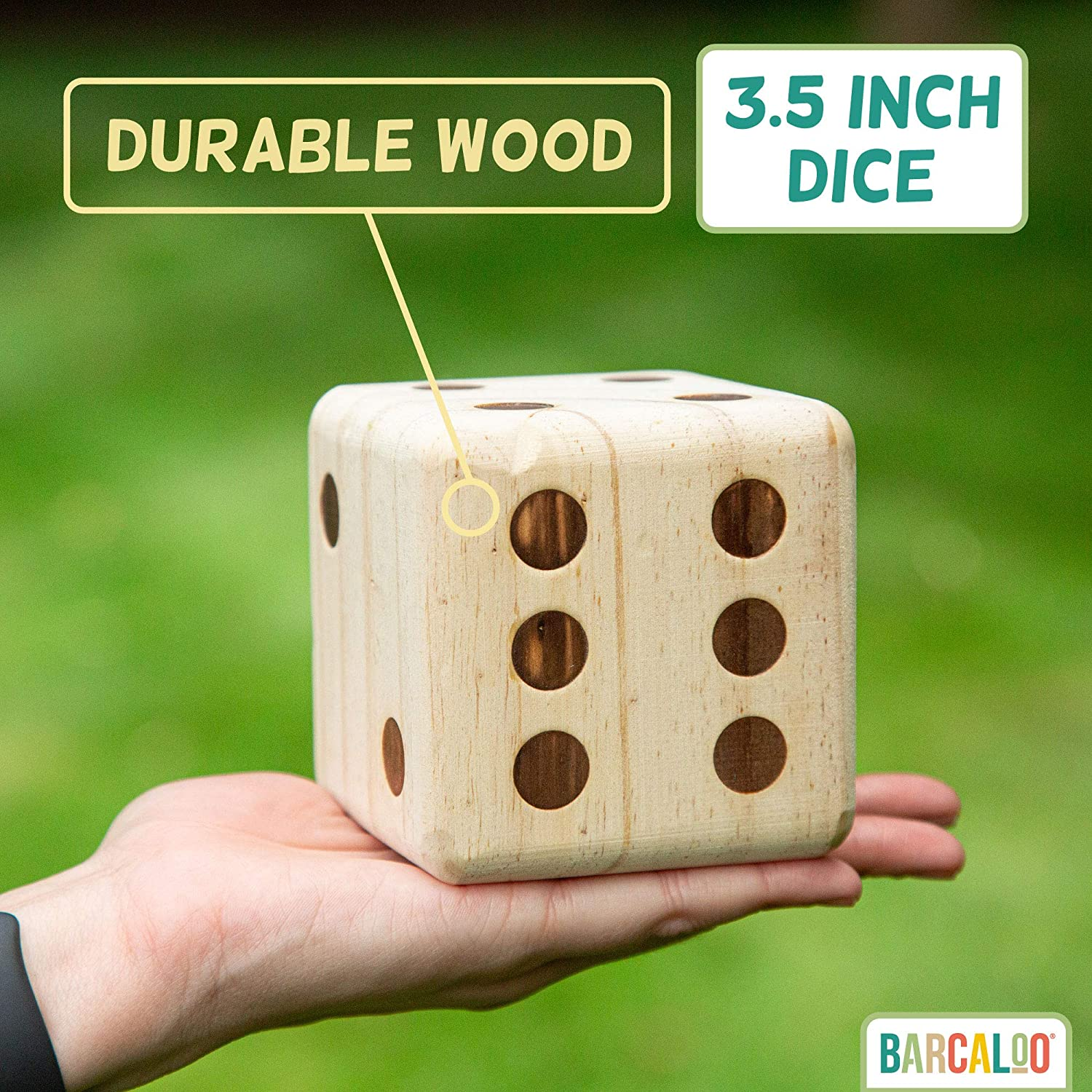 Giant Wooden Lawn Dice for Playing Outdoor Yard Games