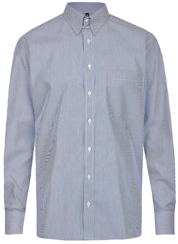 Eterna Herren Hemd Comfort Fit Tabkragen blau weiß 4036 E186 18 B071KXFY27 Business Britisches Temperament