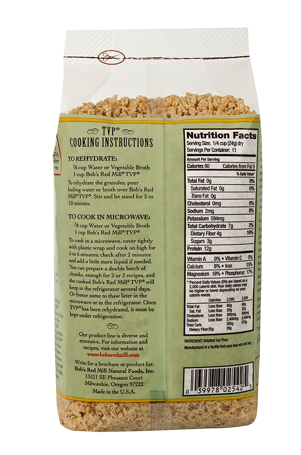 Bobs Red Mill Textured Vegetable Protein  Ounce Pack Of  Amazon Com Grocery Gourmet Food