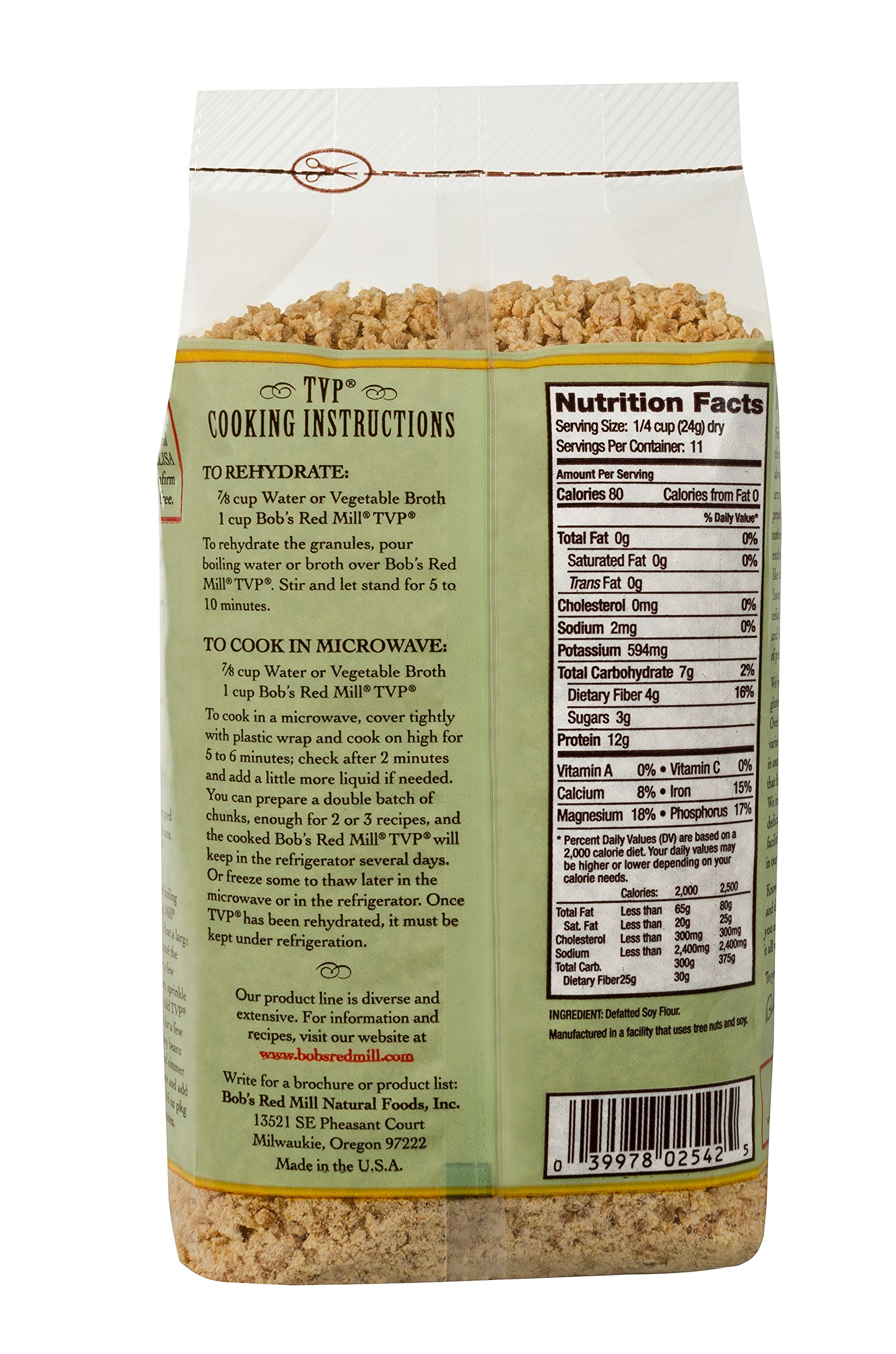 Bob's Red Mill, Texturized Vegetable Protein, 10 oz by Bob's Red Mill (Image #3)
