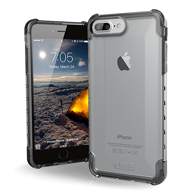 separation shoes 98483 ae897 UAG iPhone 8 Plus/iPhone 7 Plus/iPhone 6s Plus [5.5-inch Screen] Plyo  Feather-Light Rugged [ICE] Military Drop Tested iPhone Case