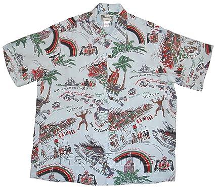 188578b13 Kamehameha Shirt - Hawaii History Kamehameha Men's Hawaiian Aloha Vintage  Retro Style Chirimen Crepe Rayon Dress