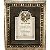 "General Sentiments Framed Wall Clocks 50th Anniversary 15"" W X 18"" H"