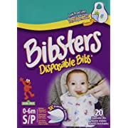 Bibsters by Neat Solutions Small Disposable Bibs with Leak Proof Liner, and Reusable Fastener, Age 0-6 Months, 120 Count