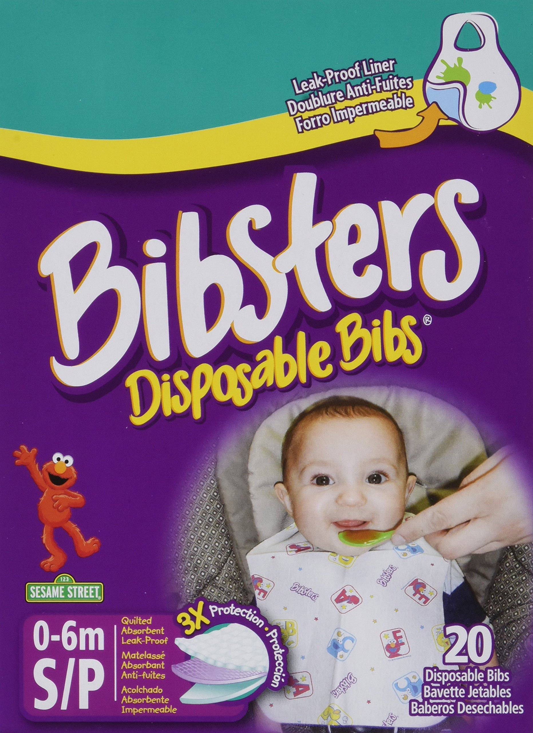 Bibsters Disposable Bibs Small, 120 Count by Bibsters