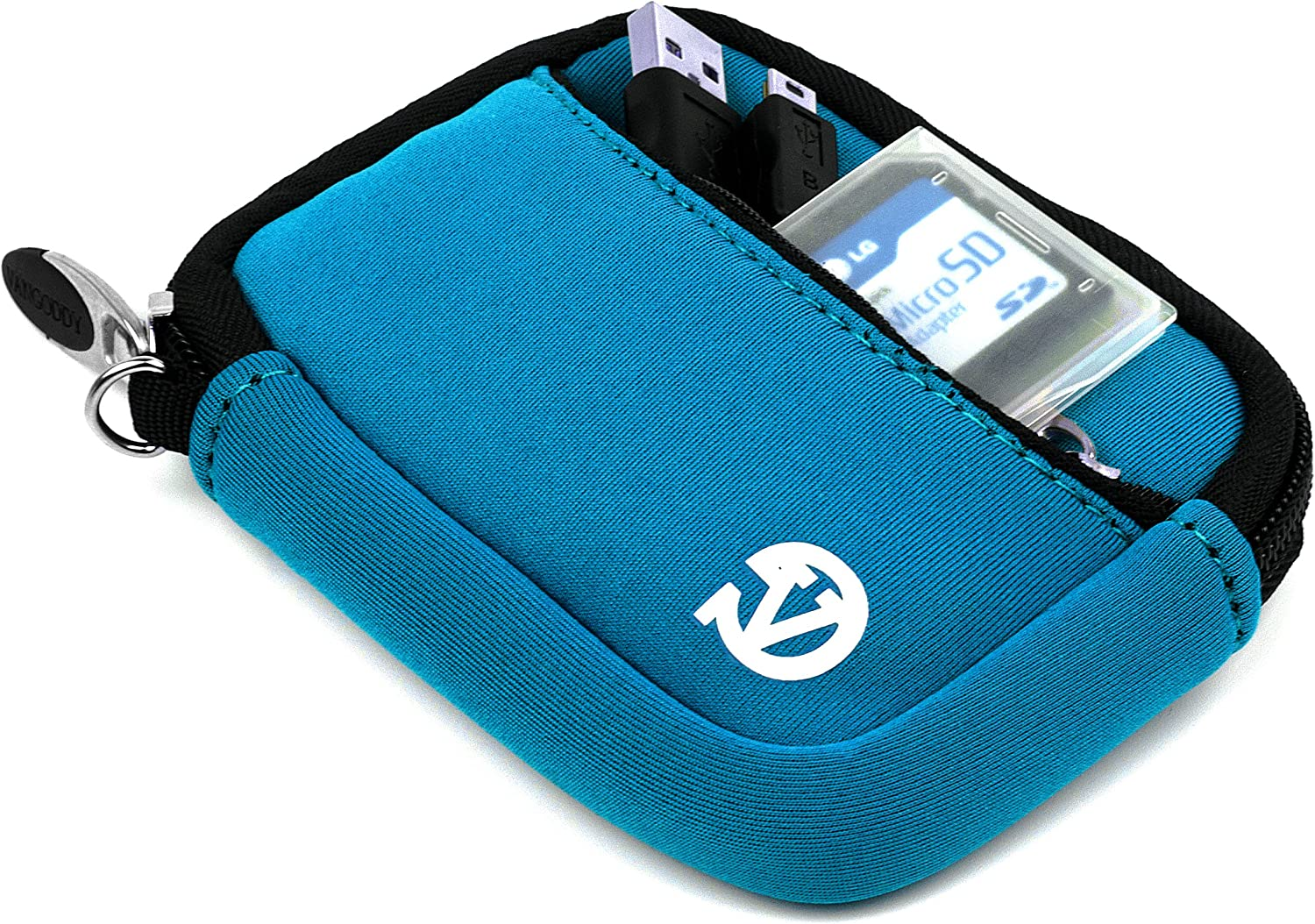 Sky Blue VanGoddy Mini Glove Sleeve Pouch Case for General Imaging Digital Cameras and Screen Protector