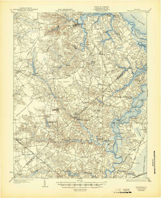 Amazon Com Yellowmaps Smithfield Va Topo Map 1 62500 Scale 15 X