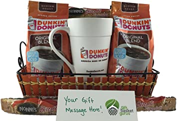 dunkin donuts deluxe gift basket