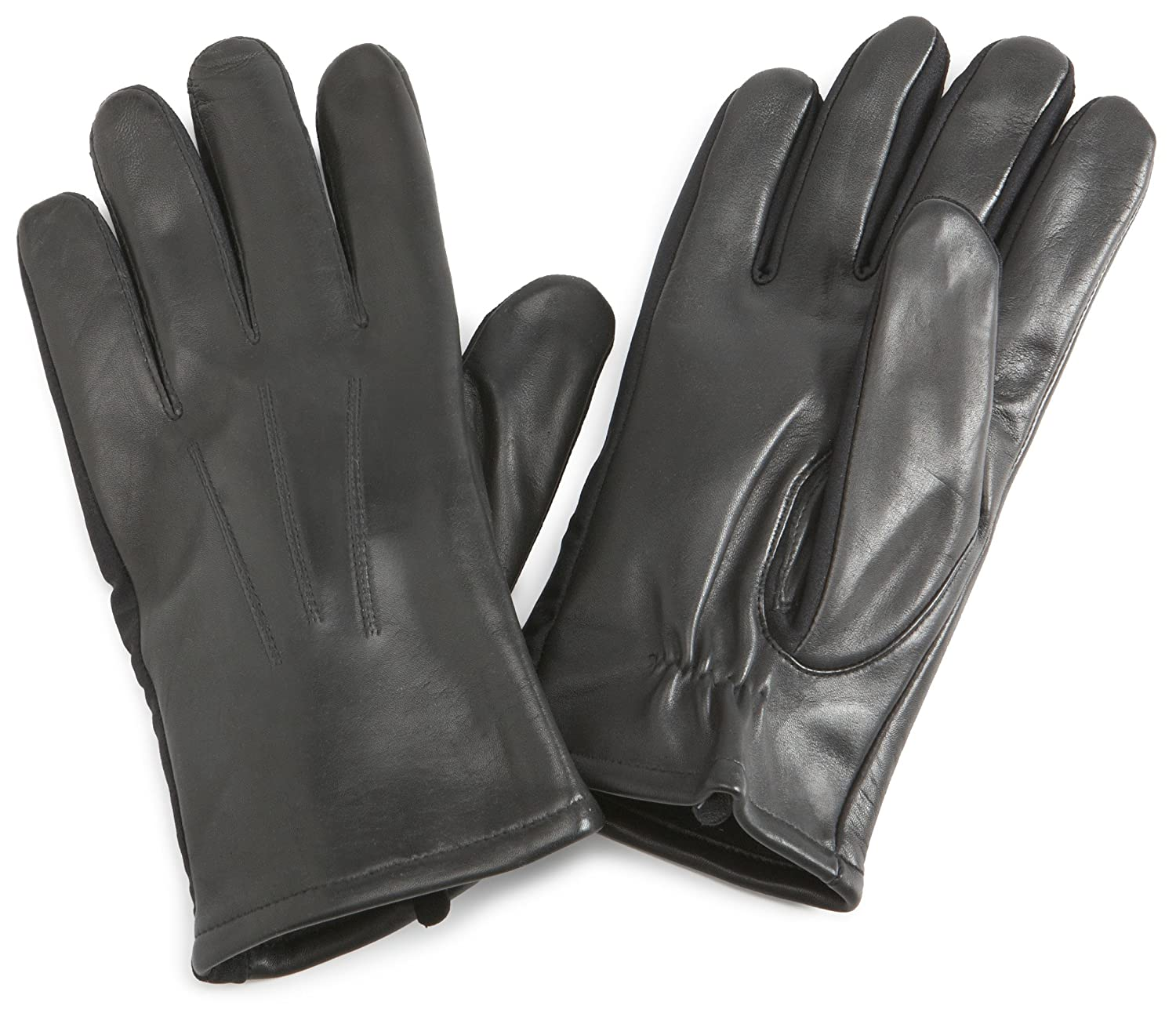 Mens gloves isotoner - Isotoner Men S Stretch Leather Glove Black X Large At Amazon Men S Clothing Store Cold Weather Gloves