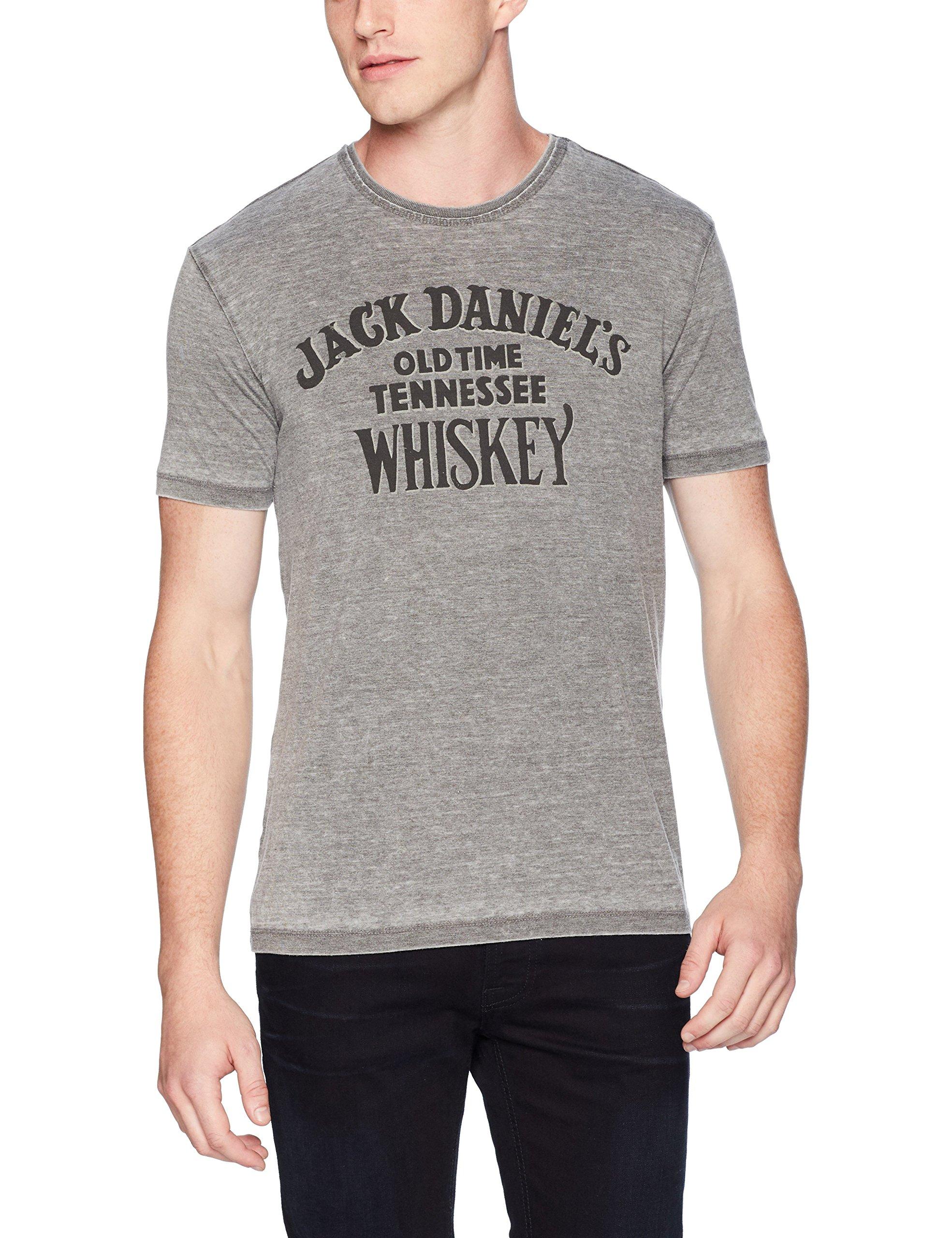 Lucky Brand Men's Jack Daniels Graphic Tee, Black Mountain, XL