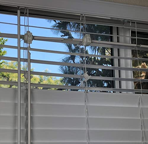 PrivaBeam Add-on Set for Window Blinds, top and Bottom Operated Separately, Sunlight let in from top While Privacy Kept from Bottom, Better Than top Down Bottom up Blinds, Size Large, Model BCS23