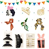 Saana Priti Hair Claw Clips(Metal Hair Clips for Women Thick Hair Claw Clips Wide Open Golden Large Hair Clamp Barrette Acces