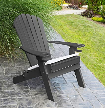 Swell Amazon Com Polywood Adirondack Chair Folding 2 Two Cup Pdpeps Interior Chair Design Pdpepsorg