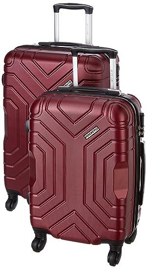 Pronto Indigo Combo Set of 2 Maroon Small, Medium Check-in 4 Wheel Hard Suitcase