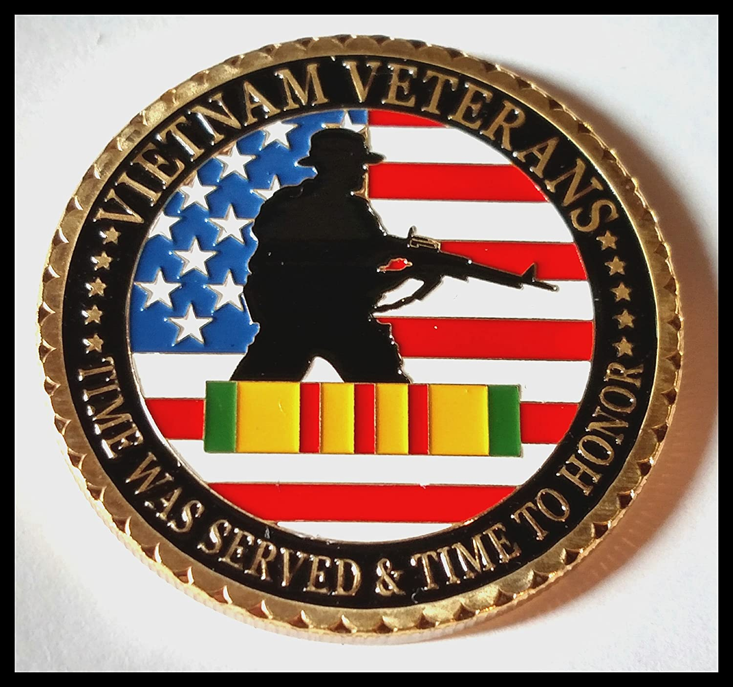 Military Vietnam Veterans 24K Gold Plated Challenge coin 1061# US