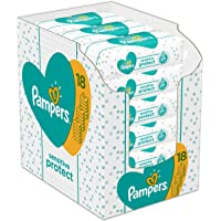 Pampers Sensitive Protect Baby Wipes, 18 Packs (1008 Wipes)
