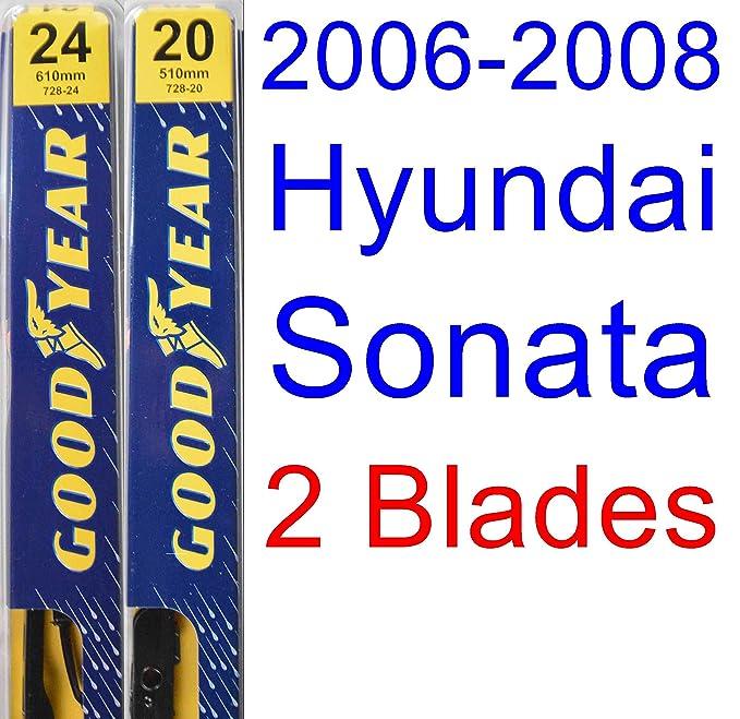 Amazon.com: 2006-2008 Hyundai Sonata Replacement Wiper Blade Set/Kit (Set of 2 Blades) (Goodyear Wiper Blades-Premium) (2007): Automotive