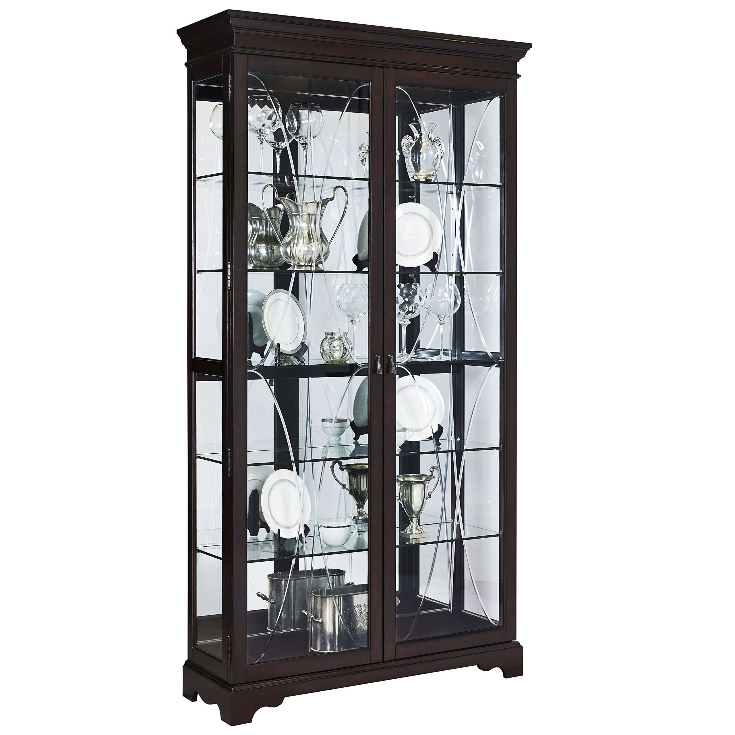 Pulaski P021579 Collection Sable Two Door Curio Display Cabinet, 44'' x 15'' x 81.5'', Poplar Brown by Pulaski (Image #1)