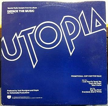 Utopia - UTOPIA DEFACE THE MUSIC SAMPLER vinyl record