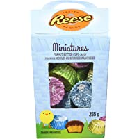 REESE Easter Chocolate Candy Peanut Butter Cups Miniatures, Easter Basket, 255 Gram