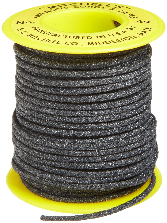 Mitchell Abrasives 49 Round Abrasive Cord, Aluminum Oxide 120 Grit .082 Diameter x 25 Feet E.C. Mitchell Inc. 49A-25