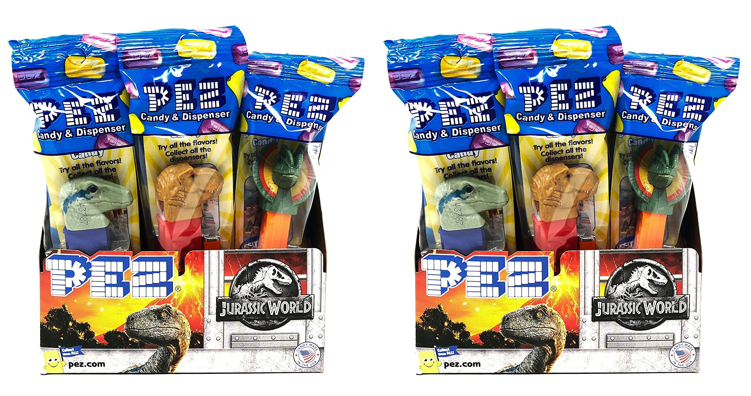 Pez Candy Jurassic World Fallen Kingdom Candy Dispensers - Individually Wrapped - Great for Party Favors and Pez Collector's (24 Pack) by PEZ Candy (Image #1)