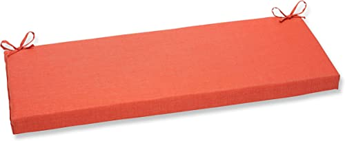 Pillow Perfect Outdoor Indoor Rave Coral Bench Cushion,Orange