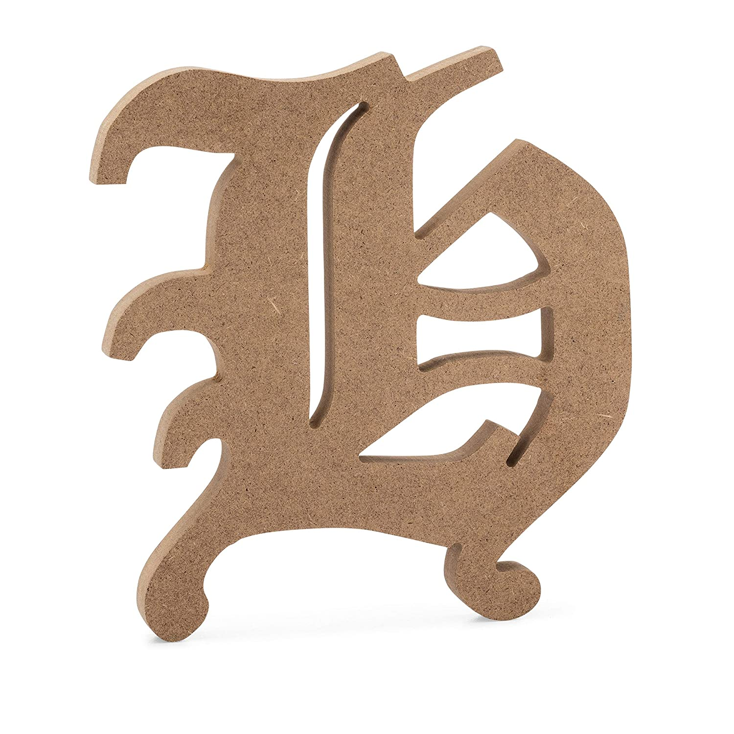6 Old English Wooden Letter T 6 inch, T JoePauls Crafts Premium MDF Wood Wall Letters