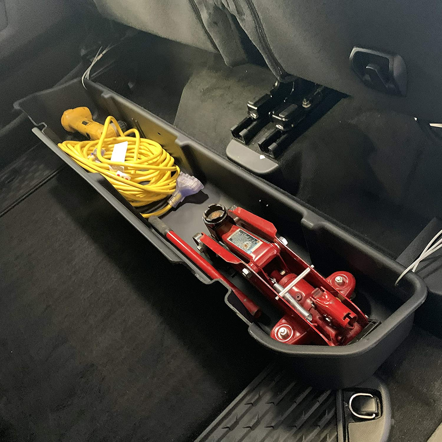 Red Hound Auto Under Seat Storage Box Compatible with Dodge Ram 1500 2019 Crew Cab Heavy Duty Underseat Container System for Crew Cab Only