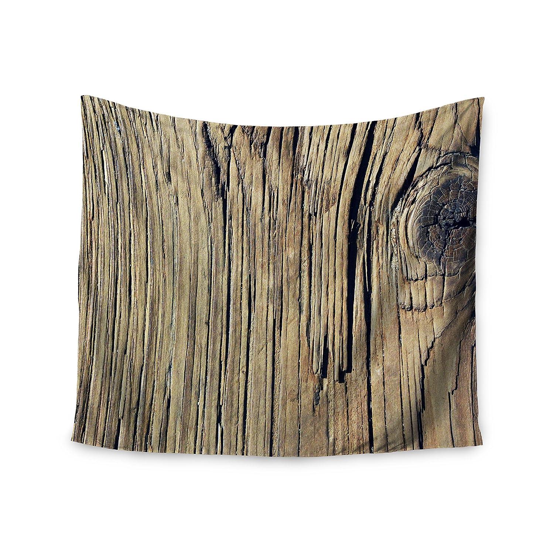Kess InHouse Nick Nareshni Tree Bark Pattern Black Brown Photography 51 x 60 Wall Tapestry